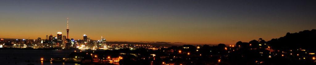Auckland skyline at night